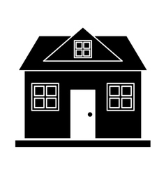 Silhouette home classic style loft vector