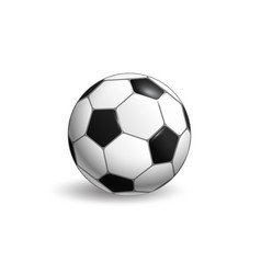 Soccer ball layout isolated on white background vector