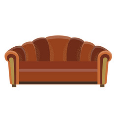 sofa icon room color design flat furniture vector image vector image