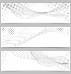 Swoosh line halftone web header collection vector