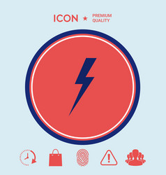 thunderstorm lightning icon vector image