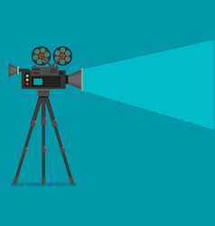 Video camera flat design vector