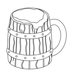 Viking ale icon in outline style isolated on white vector