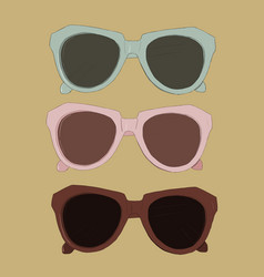 Vintage sunglasses vector