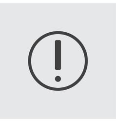 Warning icon vector image