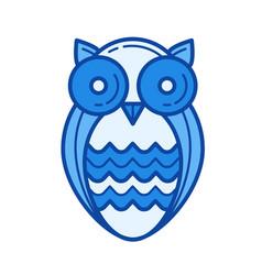 wisdom owl line icon vector image vector image
