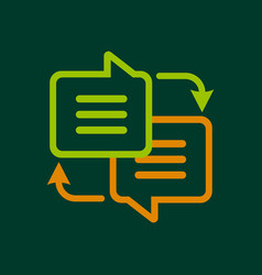 Writing translation icon outline style vector