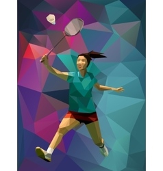 Unusual colorful triangle background geometric vector