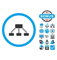 Hierarchy flat icon with bonus vector