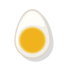 Silhouette color with half boiled egg vector