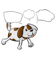 A puppy with empty thoughts vector image