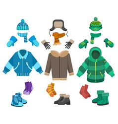 Male winter clothing vector