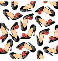 Background from feminine loafer vector