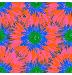 Seamless bright colors tropical floral pattern vector