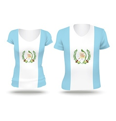 Flag shirt design of guatemala vector