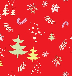 Seamless christmas pattern the pattern is painted vector