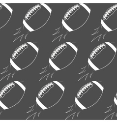 American football ball rocket seamless pattern in vector