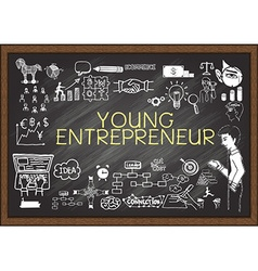 Young Entrepreneur on chalkboard vector image