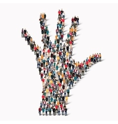 Group people shape hand vector