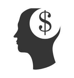 Money mind and business graphic design vector