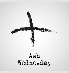 Ash wednesday background vector