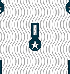 Award Medal of Honor icon sign Seamless pattern vector image vector image