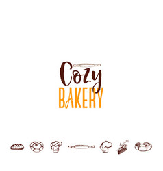 Badge for small businesses - cozy bakery the vector