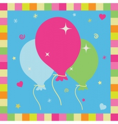balloon card vector image