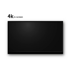 blank 4k tv screen vector image