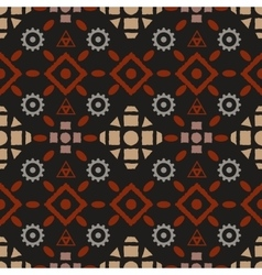 Boho tribal seamless pattern vector