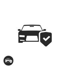 Car protection icon isolated concept of vector image vector image