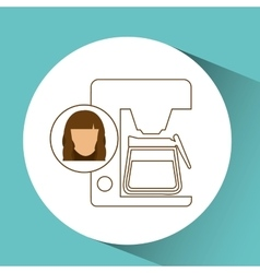 Coffee maker machine icon female vector
