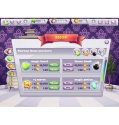 Example of shop window for a computer game vector image