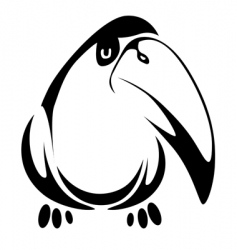 fun bird vector image