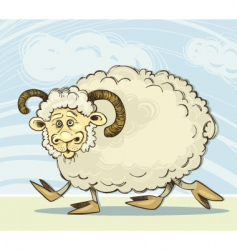 funny ram vector image
