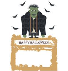halloween with zombie vector image vector image