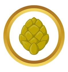Hop cone icon vector