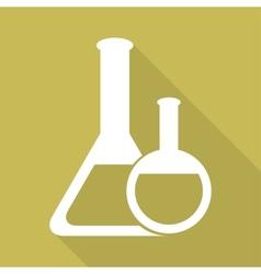 Medical flack chemical eequipment web icon vector