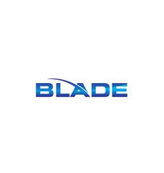 Modern logo solution blade vector