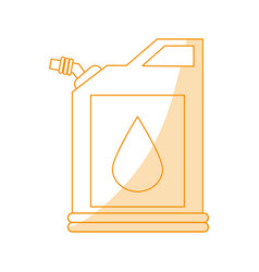 Orange silhouette shading fuel container with vector