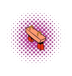 Pommel horse icon comics style vector image vector image