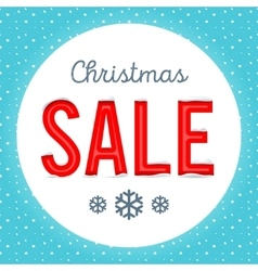 Retro christmas sale poster vector