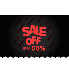 Sale banner template sale off vector