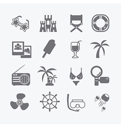 sea set of icons vector image