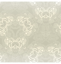 Seamless abstract hand-drawn floral pattern vector
