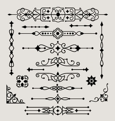set of decorative design elements vector image vector image