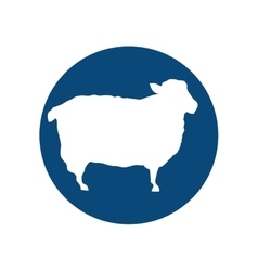 Sheep animal silhouette vector