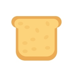 Slice of bread icon flat design isolated on vector