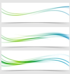 Speed modern abstract satin airy line flow vector image