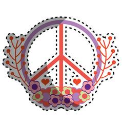 Symbol peace and love icon vector